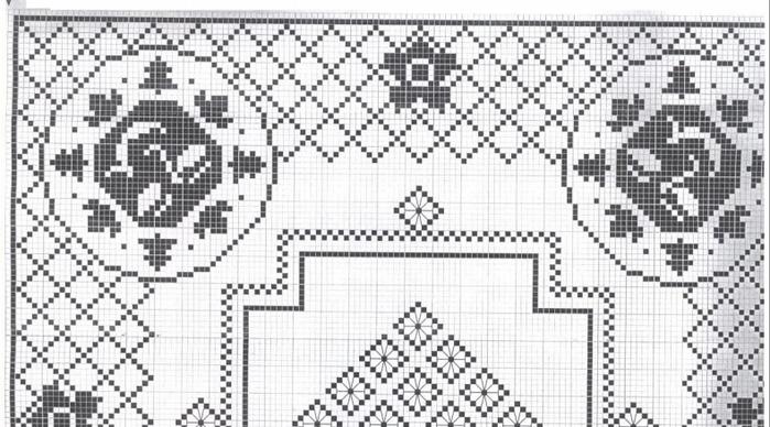 Вязание крючком. Скатерти и бабочки для украшения. Схемы (1) (700x388, 375Kb)