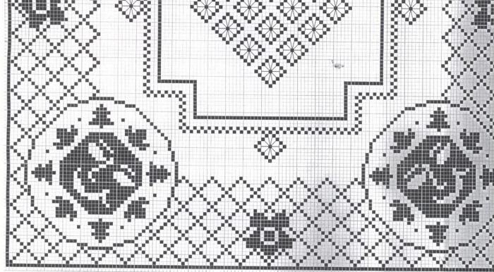 Вязание крючком. Скатерти и бабочки для украшения. Схемы (2) (700x386, 388Kb)