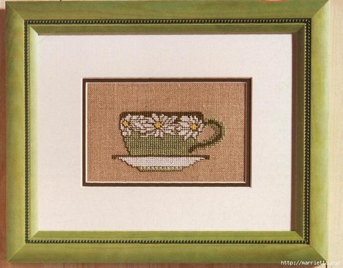 Схемы вышивки крестом. Ромашковое настроение (1) (696x544, 221Kb)