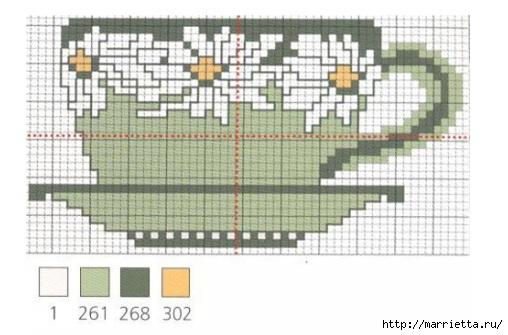 Схемы вышивки крестом. Ромашковое настроение (5) (508x335, 104Kb)