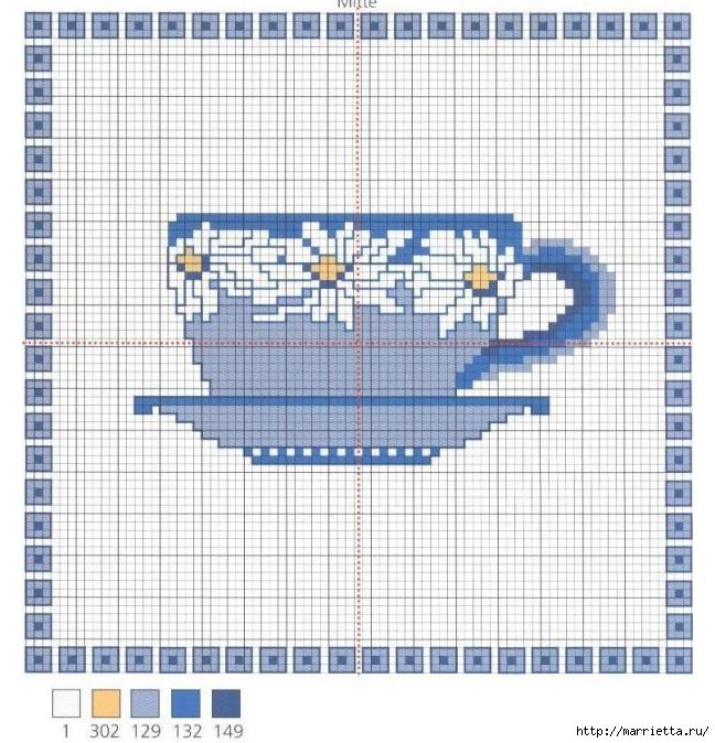 Схемы вышивки крестом. Ромашковое настроение (7) (648x674, 291Kb)