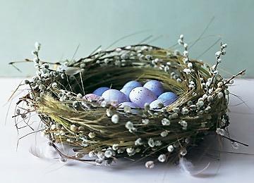 Как пасхальное гнездо
