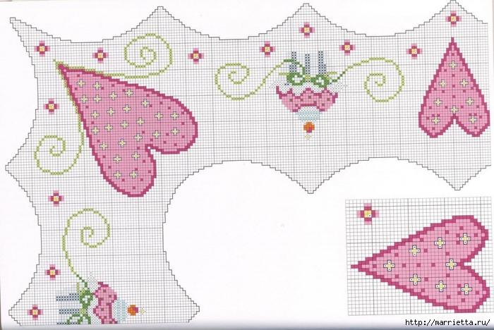 Нежная вышивка для праздничной скатерти. Схемы (4) (700x468, 243Kb)