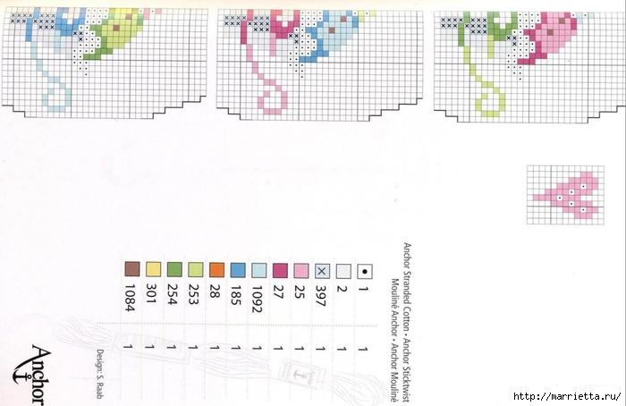 Нежная вышивка для праздничной скатерти. Схемы (9) (700x454, 157Kb)