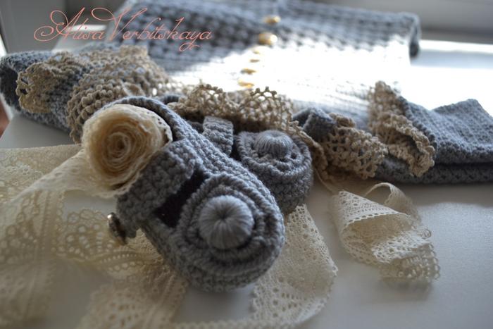 """钩针:""""灰色复古套装""""(大衣、 帽子、 鞋子) - maomao - 我随心动"""
