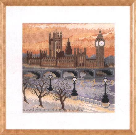 Вышивка крестом, схемы Лондон