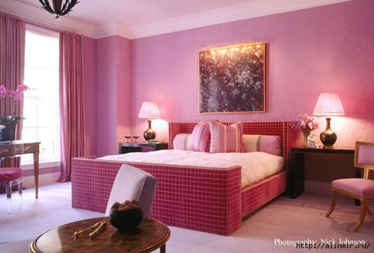 интерьер розовая спальня (546x369, 116Kb)