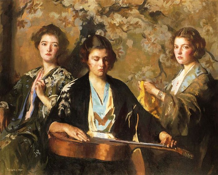 1Edmund Tarbell.My Three Granddaughters (700x562, 82Kb)