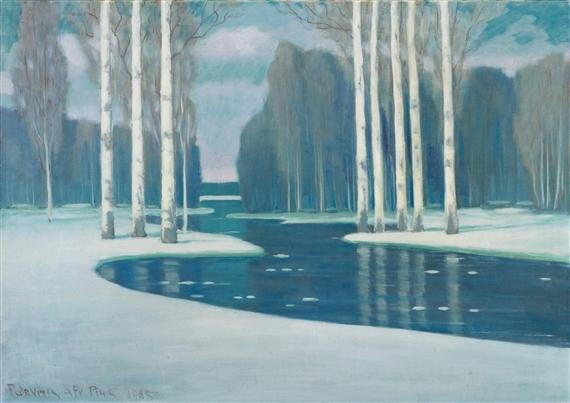Березы у реки, 1903 (570x403, 227Kb)