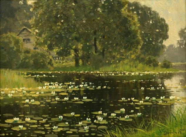 Летний пейзаж, 1922 (633x466, 406Kb)