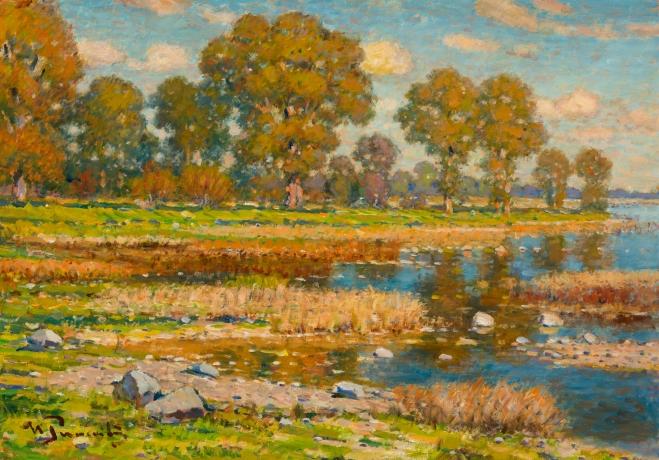 На берегу озера, 1930-е (659x460, 467Kb)