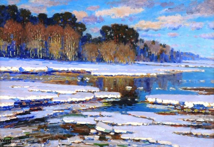 Таяние снега, 1910 (700x481, 445Kb)