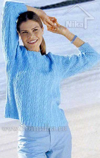 Голубой пуловер с доставкой