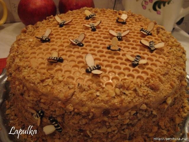 Украшение торта медовика фото