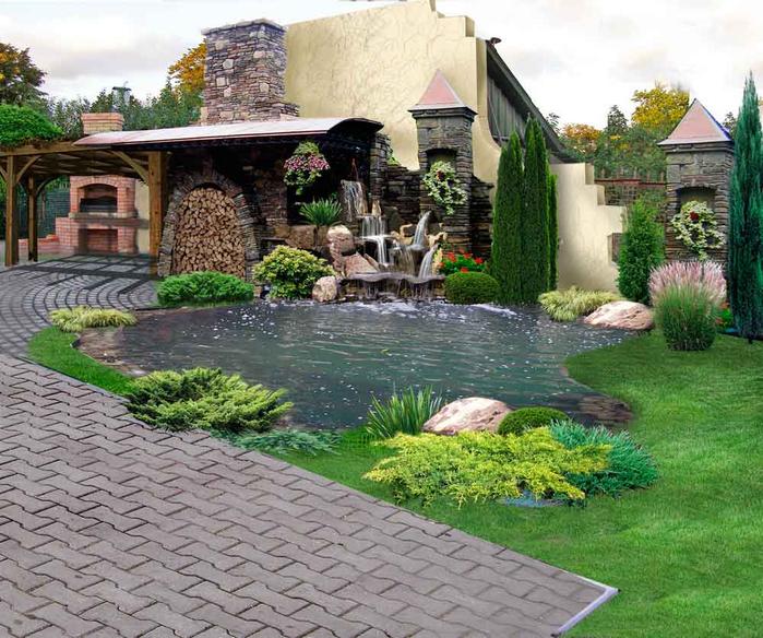 Загородные дома дизайн участка фото
