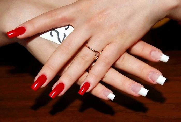 Ухоженные и красивые ногти. Ванночки для укрепления ногтей (1) (699x471, 196Kb)