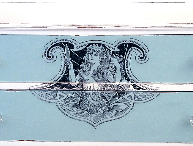 Русалка на комоде. Изображение для распечатки (2) (650x494, 422Kb)