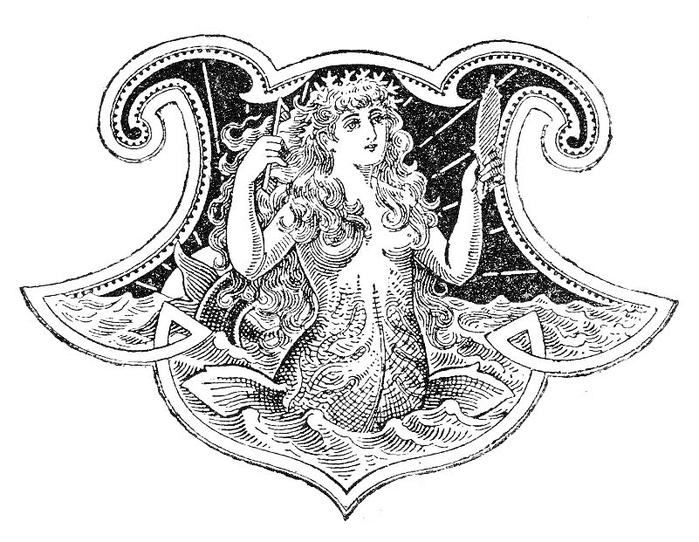 Русалка на комоде. Изображение для распечатки (4) (700x542, 206Kb)