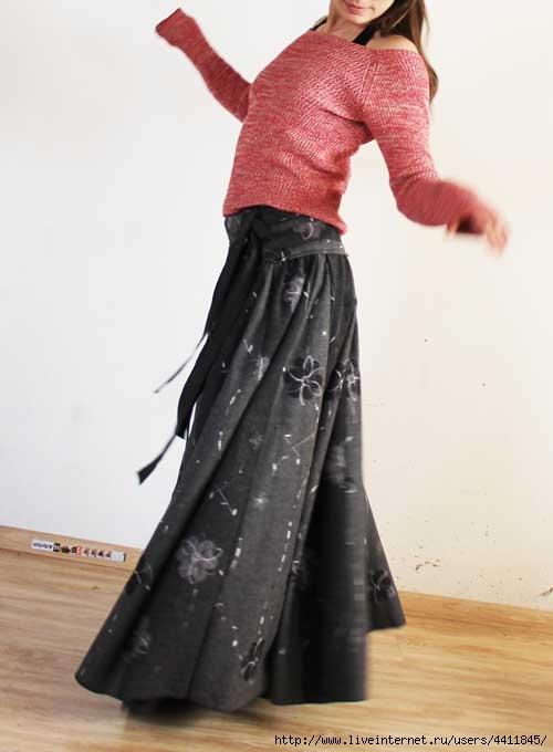 Тёплая юбка своими руками 53