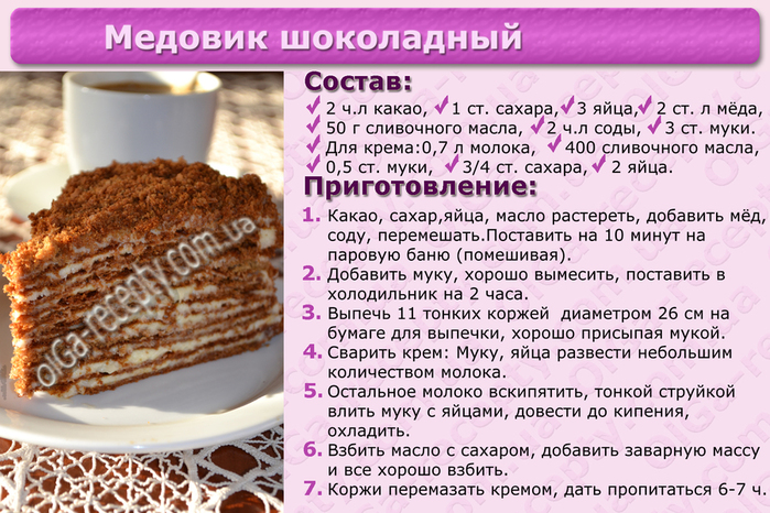 Рецепты тортов фото-рецепты