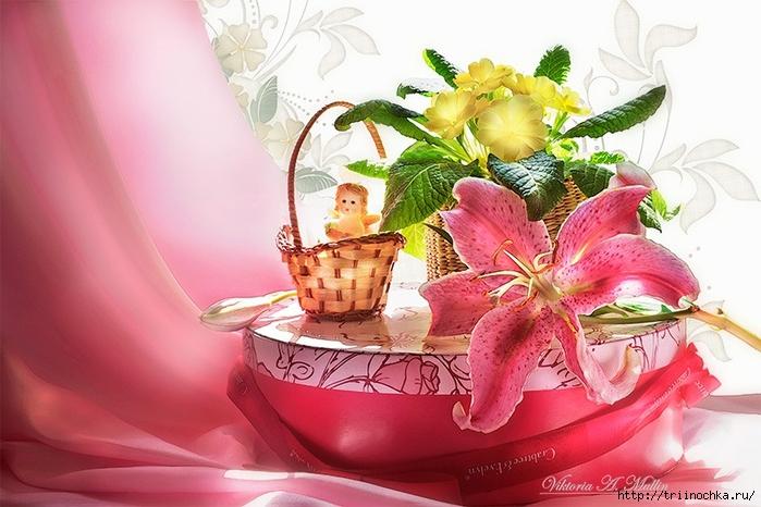 Ты даришь мне любимые цветы, Ты наполняешь сердце вдохновеньем…