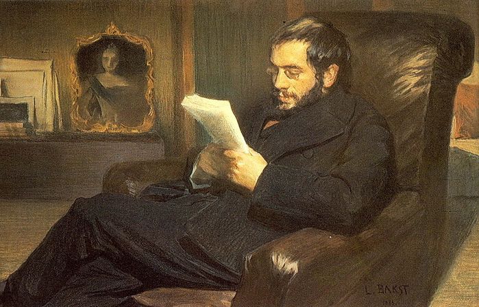 Портрет Александра Бенуа, 1898 (700x448, 388Kb)