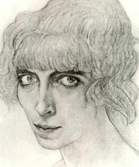 Портрет танцовщицы М.Казати, 1912 (584x700, 248Kb)