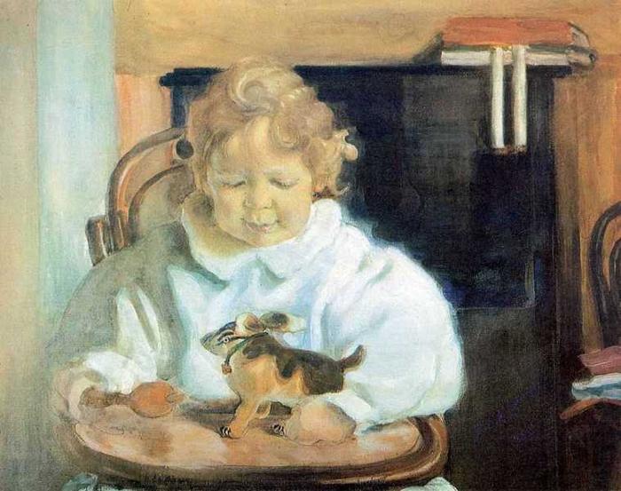 Портрет Андрея Львовича Бакста, сына художника, 1908 (700x553, 357Kb)