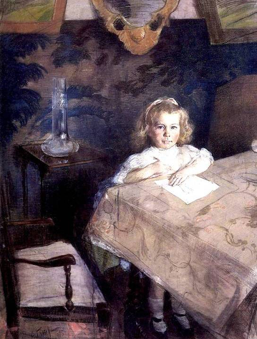 Портрет девочки. 1905 (531x700, 394Kb)