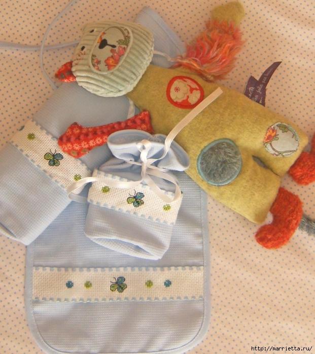 Схемы вышивки комплектов для новорожденных (4) (621x700, 333Kb)