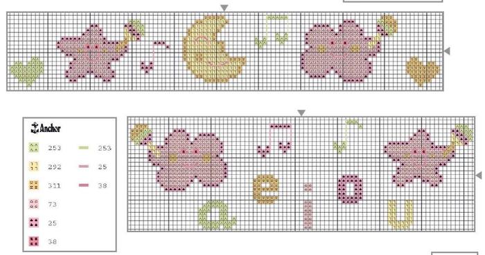 Схемы вышивки комплектов для новорожденных (9) (700x369, 328Kb)