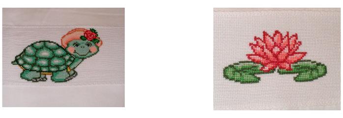 Схемы вышивки комплектов для новорожденных (17) (700x240, 194Kb)