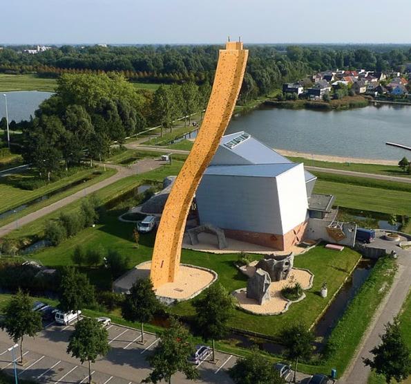искусственная скала в гронингене нидерланды 2 (595x555, 723Kb)