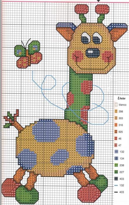 Позитивная детская вышивка. Схемы (5) (440x700, 521Kb)