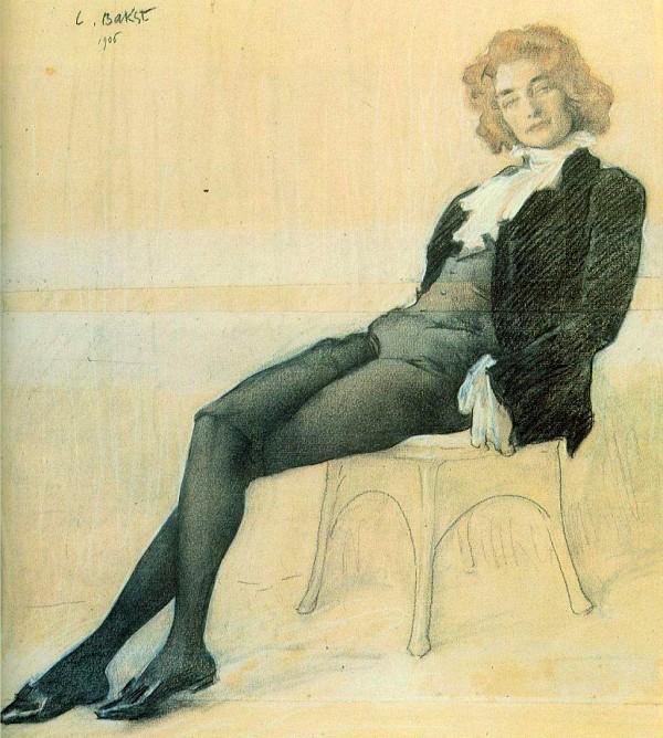 -1906 Портрет З Н Гиппиус (600x668, 390Kb)