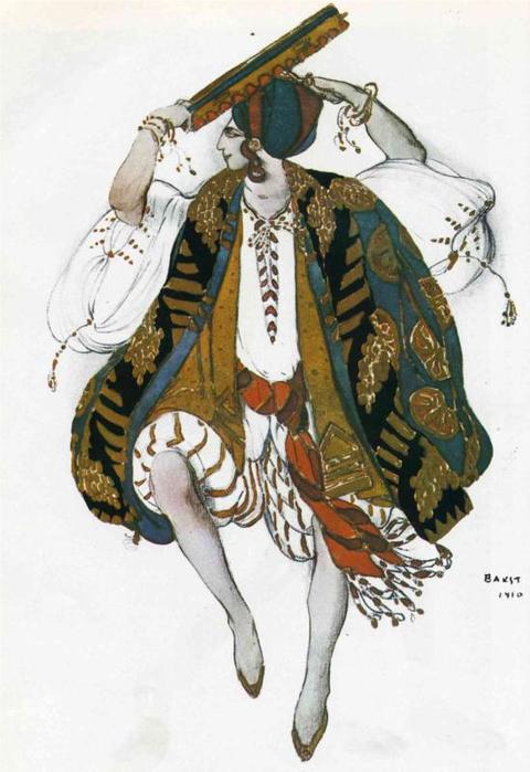 Эскиз костюма к балету Клеопатра, 1910 (480x700, 278Kb)