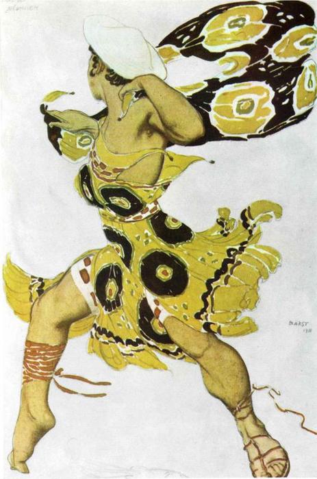 Эскиз костюма к балету Н. Черепнина Нарцисс, 1911 (463x700, 326Kb)
