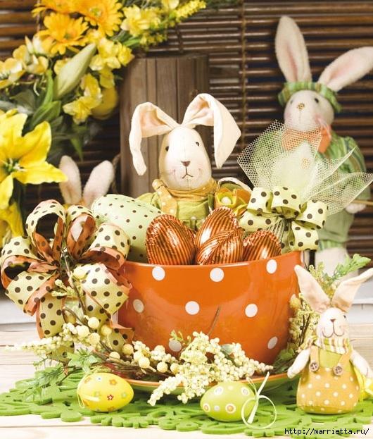 Кролик в чашке. Идеи пасхальных композиций (1) (530x623, 272Kb)