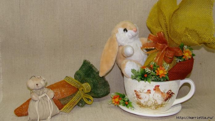 Кролик в чашке. Идеи пасхальных композиций (4) (700x393, 238Kb)