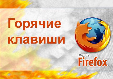Горячие клавиши Firefox