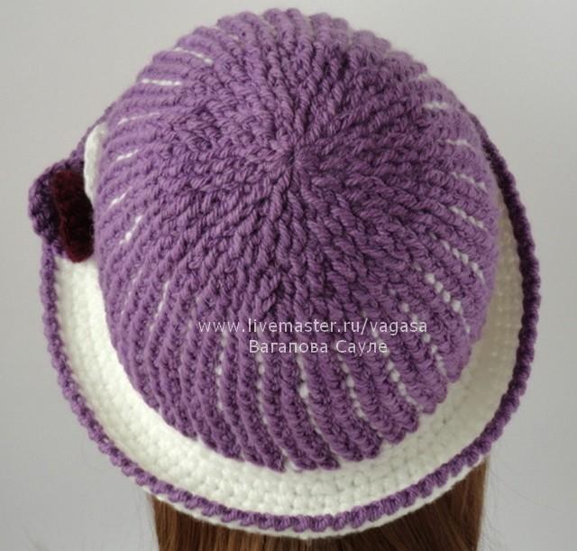 теплая шляпка крючком описание