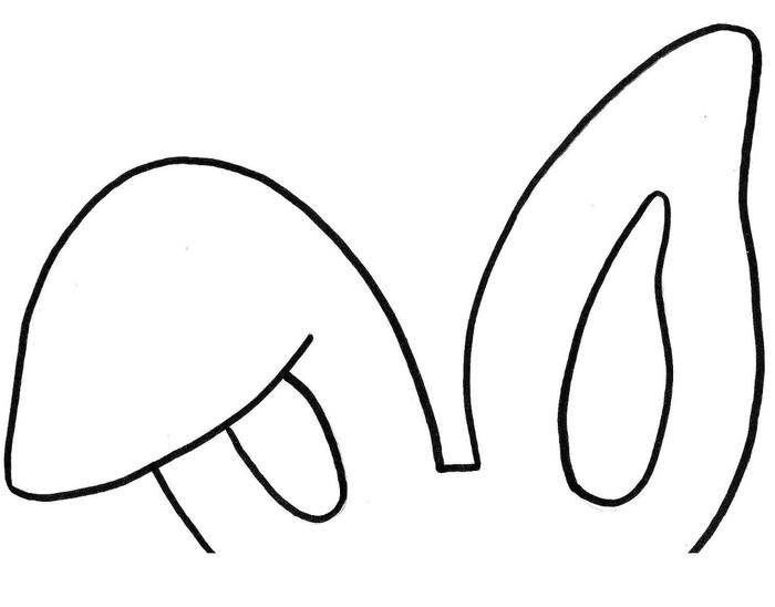 Для детского утренника. Рожица и ушки пасхального зайца (8) (700x548, 59Kb)