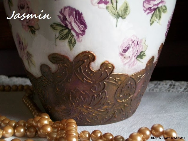 Стильная цветочная ваза из глиняного горшка (5) (640x480, 166Kb)