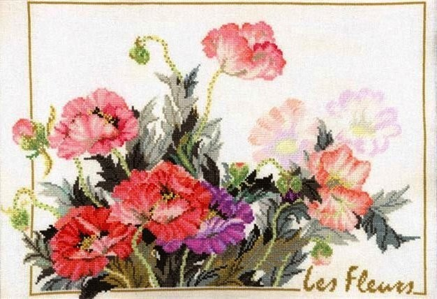 Маки нежные Floral fantasy Les