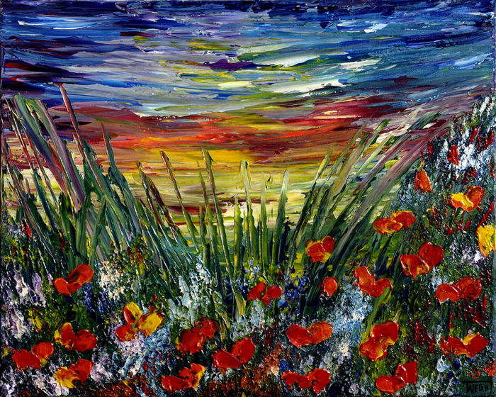 poppies_field_sunset_by_artbyteresa-d55uwyn (700x560, 693Kb)