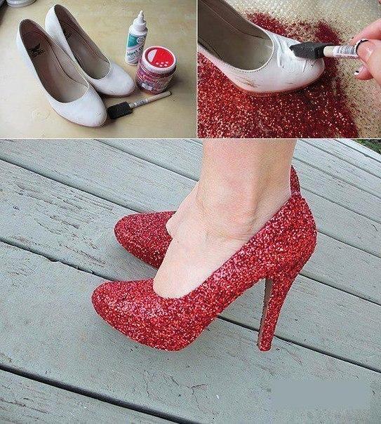 Как сделать из старой обуви новую обувь