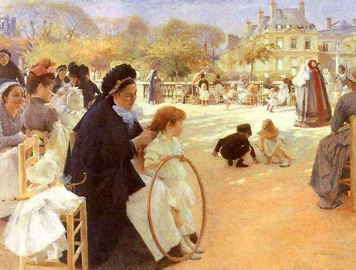 1Albert Edelfelt In the Luxembourg Garden (700x532, 85Kb)