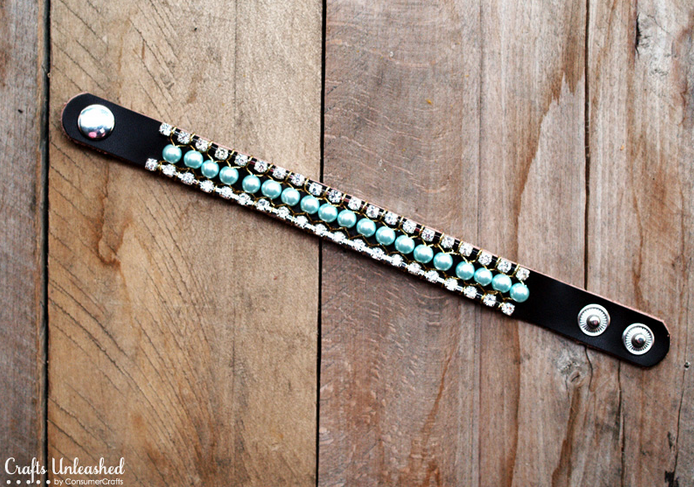 Жемчужно-кожаный браслет своими руками. Мастер-класс (2) (694x487, 891Kb)