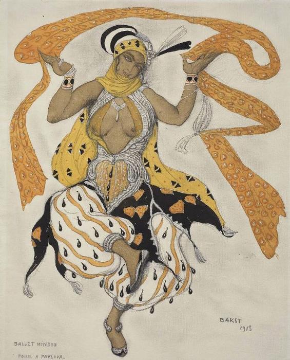 +Эскиз костюма к балету Индийская любовь, 1913 (565x700, 407Kb)