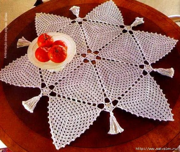 钩针:三角桌巾 - maomao - 我随心动
